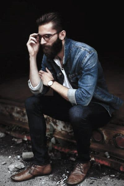 Casual Wear Guys Style Ideas Denim Jacket With Jeans