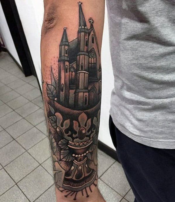 Cathedral Male Tattoo Designs