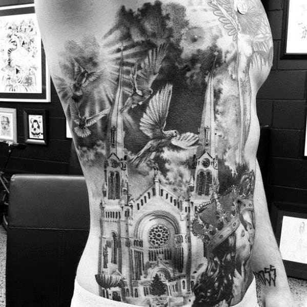 Cathedral Male Tattoos