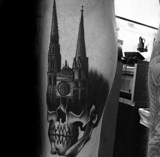 Cathedral Tattoo Design Ideas For Males
