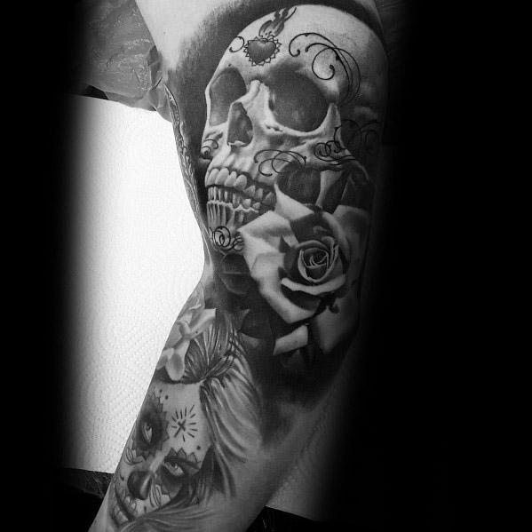 50 La Catrina Tattoo Designs For Men Mexican Ink Ideas border=