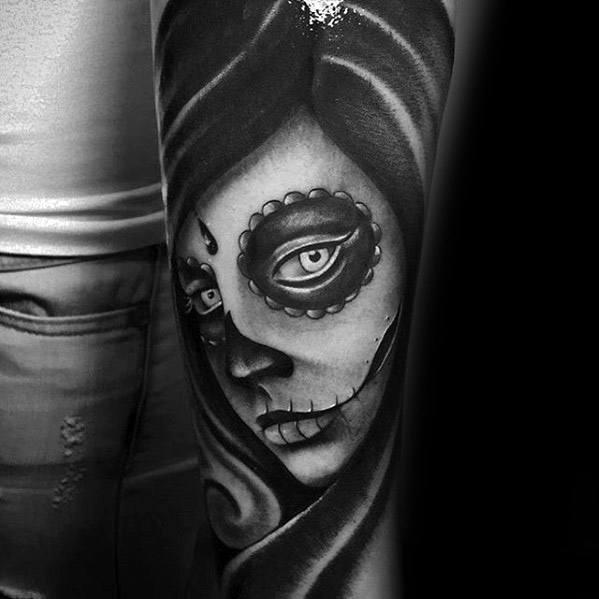 50 Amazing Tattoo Designs For Men: 50 La Catrina Tattoo Designs For Men