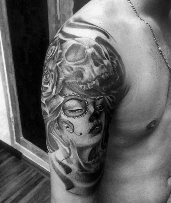 Catrina Tattoo Ideas For Males