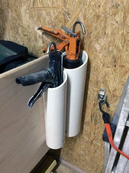 Caulking Guns Tool Storage Ideas Pvc Tube Cut Open