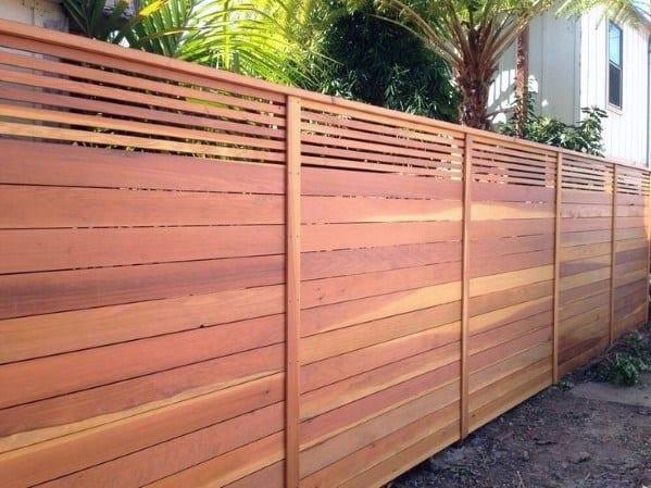 Cedar Exceptional Wooden Fence Ideas