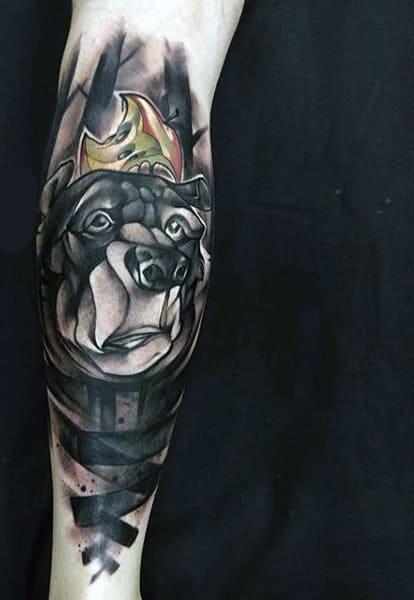 Celtic Bear Men's Tattoos