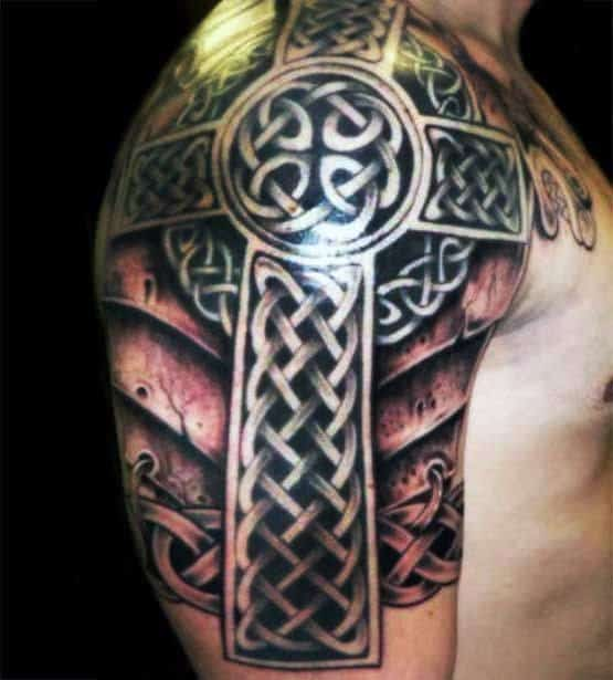 Celtic Cross Sleeve On Arm For Men