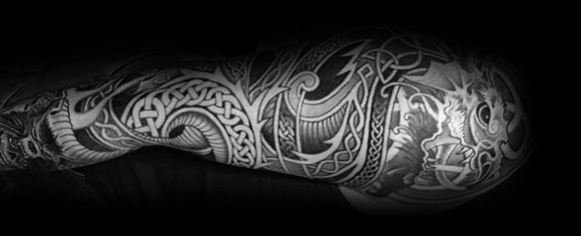 Celtic Dragon Tattoo Designs For Men