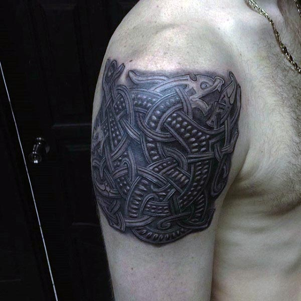 Celtic Knot Cool Guys 3d Arm Tattoo Ideas