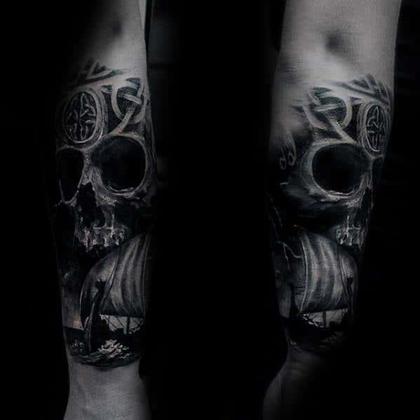 50 3d skull tattoo designs for men cool cranium ink ideas. Black Bedroom Furniture Sets. Home Design Ideas
