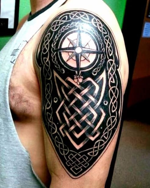 40 celtic tattoos for men cool knots and complex curves