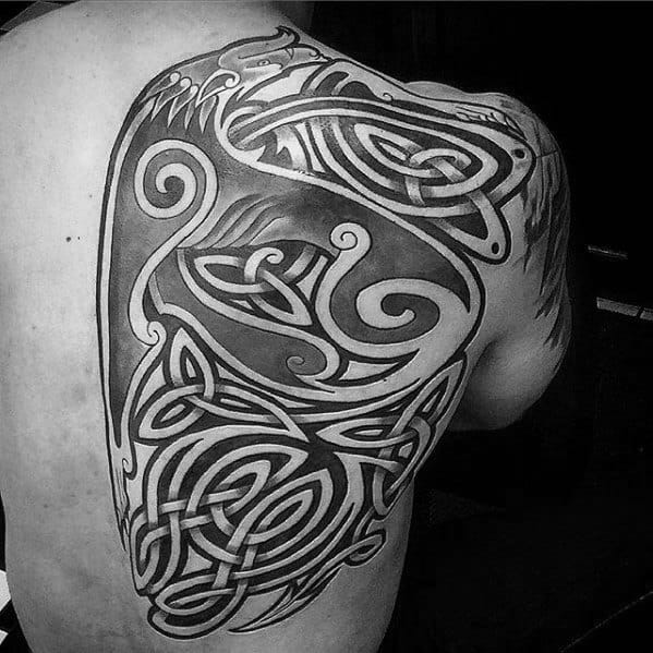 Celtic Wolf Tattoos For Gentlemen