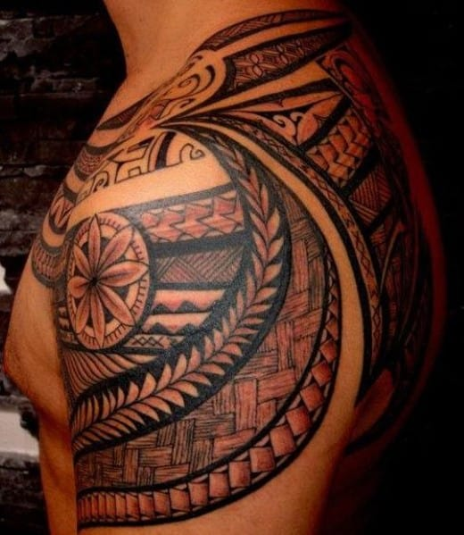 Celtic Men's Shoulder Tattoo On Back