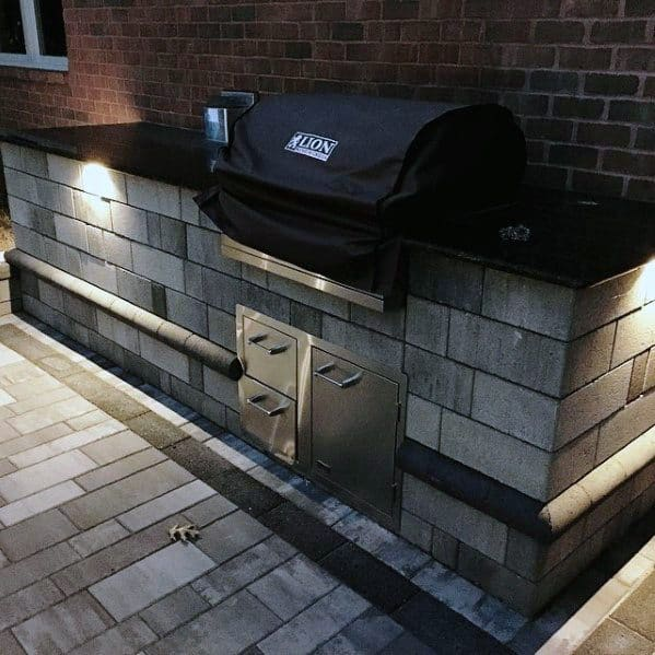 Cement Block Home Ideas Built In Grill