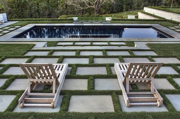 Cement Pavers Pool Landscaping Cool Backyard Ideas