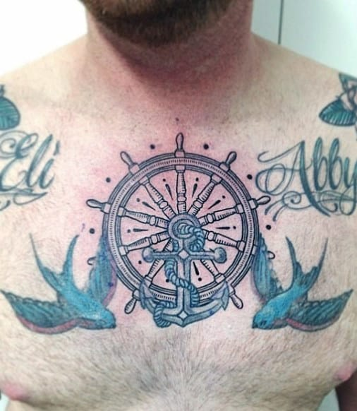 Middle Chest Tattoo