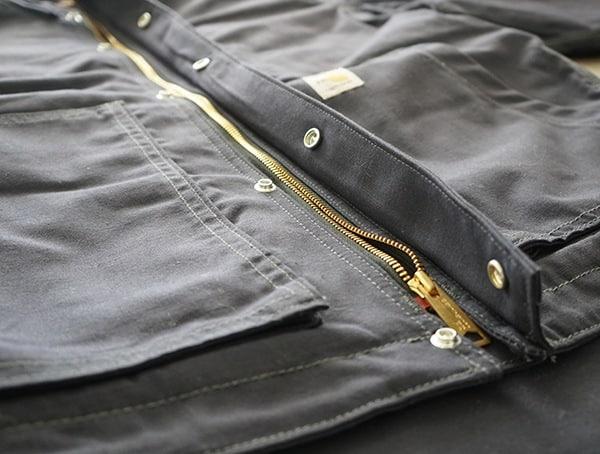 Center Chest Zipper Mens Fire Resistant Full Swing Quick Duck Jacket