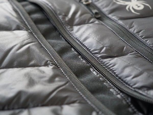 Center Chest Zipper Mens Spyder Syrround Down Ski Jacket