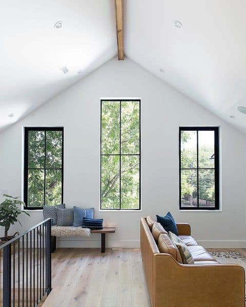 Center Single Wood Beam Vaulted Ceiling Ideas Inspiration