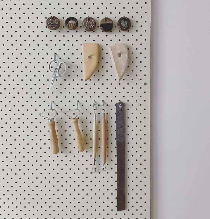 Ceramic Studio Workspace Pegboard Ideas Flint Ceramics