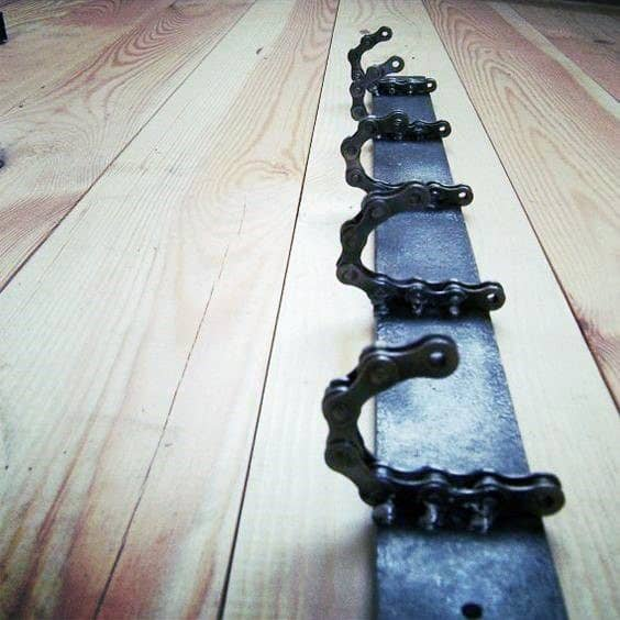 Chain Coat Hanger Cheap Man Cave Ideas