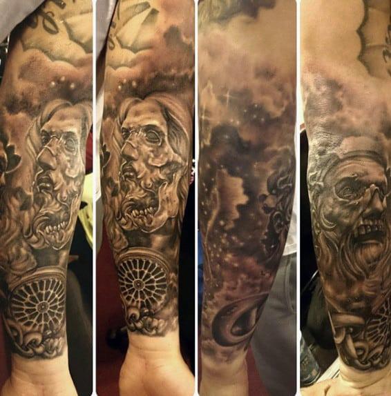 Chain Tattoos Designs For Men Full Sleeve