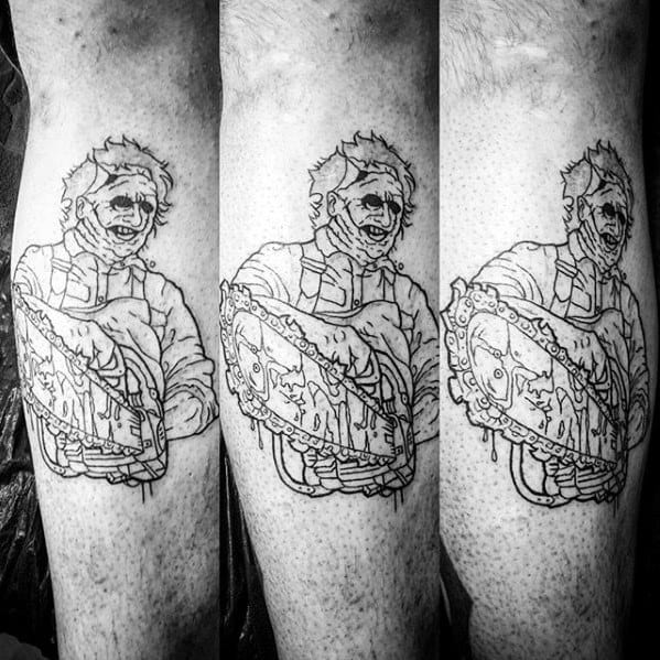 Chainsaw Male Tattoos