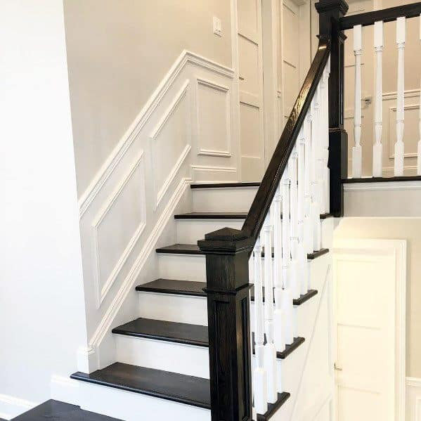 Chair Rail Home Ideas Staircase Wall