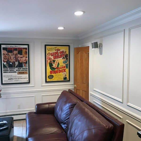 Chair Rail Idea Inspiration Home Theatre Walls