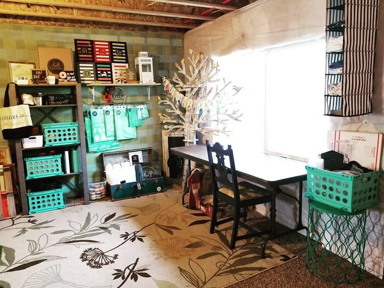 Chalk Couture Unfinished Basement Ideas