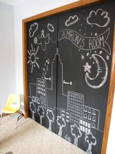 Chalkboard Closet Doors Ideas