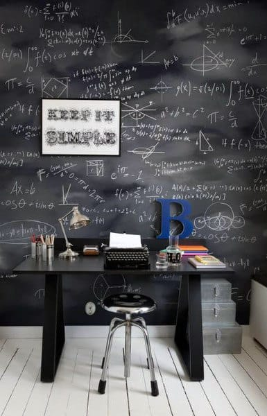 Chalkboard Small Home Office Ideas