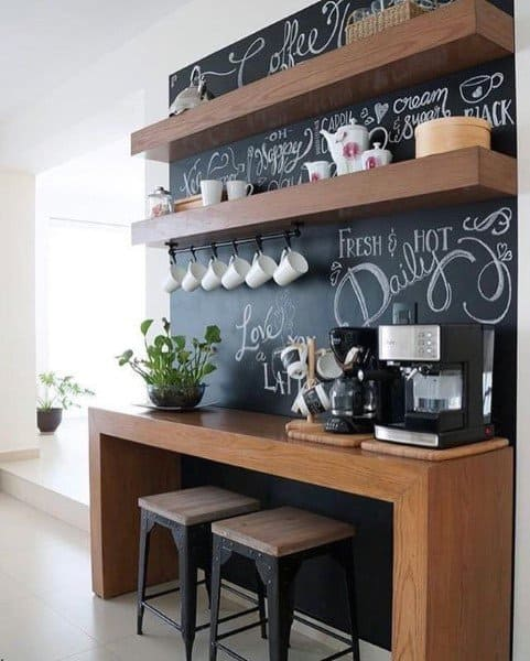 Chalkboard Wall Coffee Bar Ideas