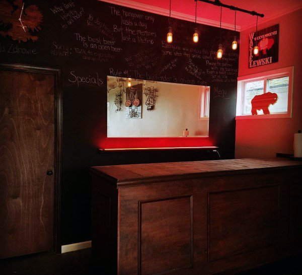 Chalkboard Walls Design Ideas For Garage Bars