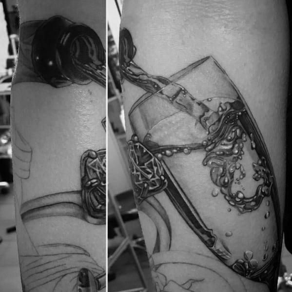 Champagne Male Tattoos