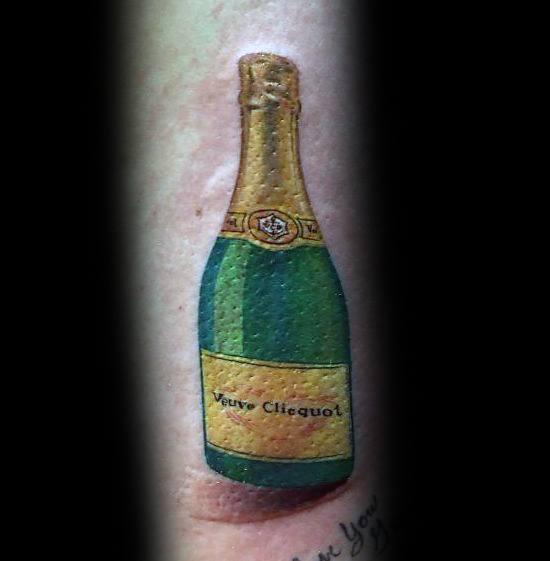Champagne Tattoo Inspiration For Men
