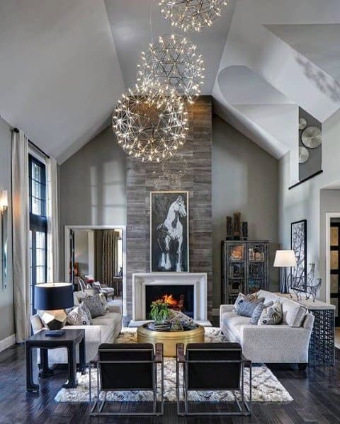 Chandelier Fireworks Star Globe Ideas For Home Living Room Lighting