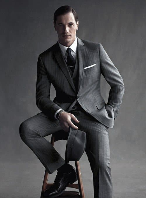 Charcoal Grey Suit Black Shoes Style For Men