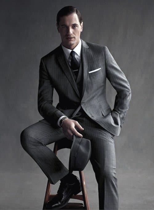 Charcoal Grey Suit Black Shoes Style For Men