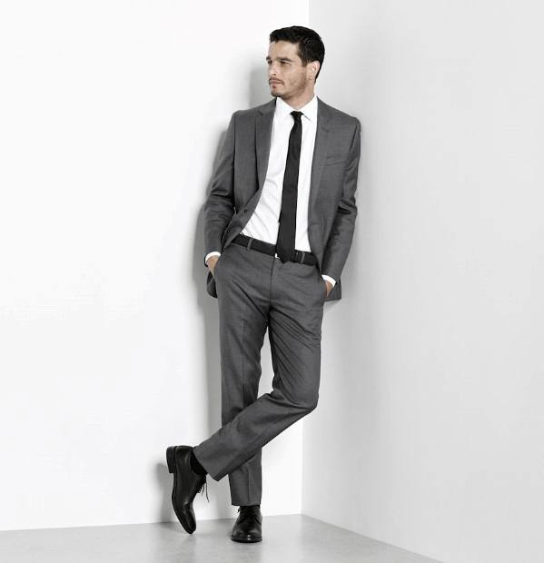 Charcoal Grey Suit Black Shoes Style Looks For Men