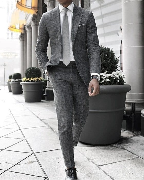 Charcoal Grey Suit Black Shoes Styles For Gentlemen