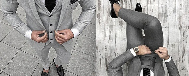 Charcoal Grey Suit Black Shoes Styles For Men