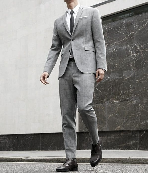 Charcoal Grey Suit Brown Shoes Styles For Gentlemen
