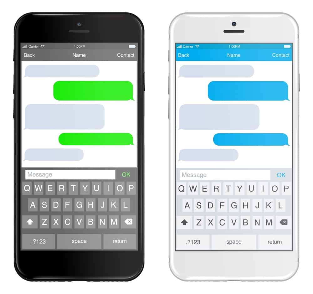 chatting sms on mobile phone
