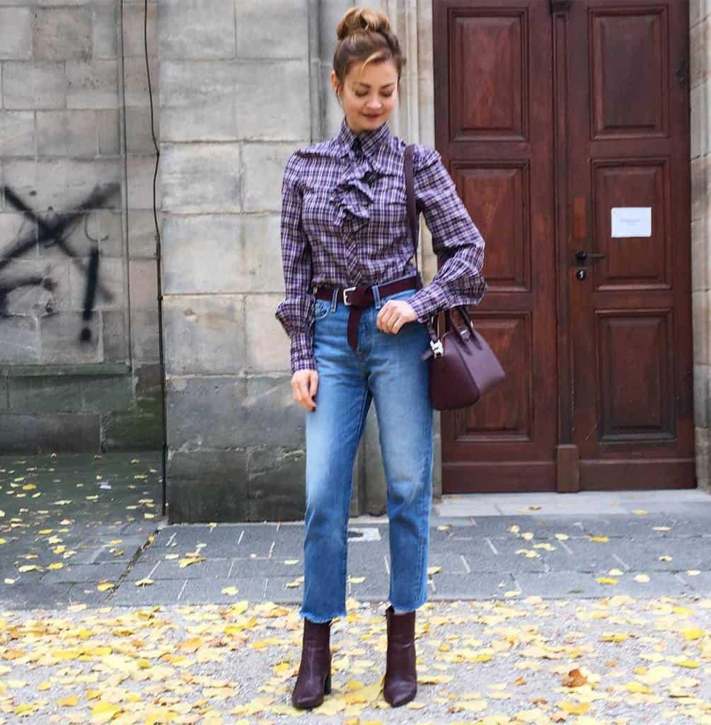 Checkered Shirt Modern Victorian Style