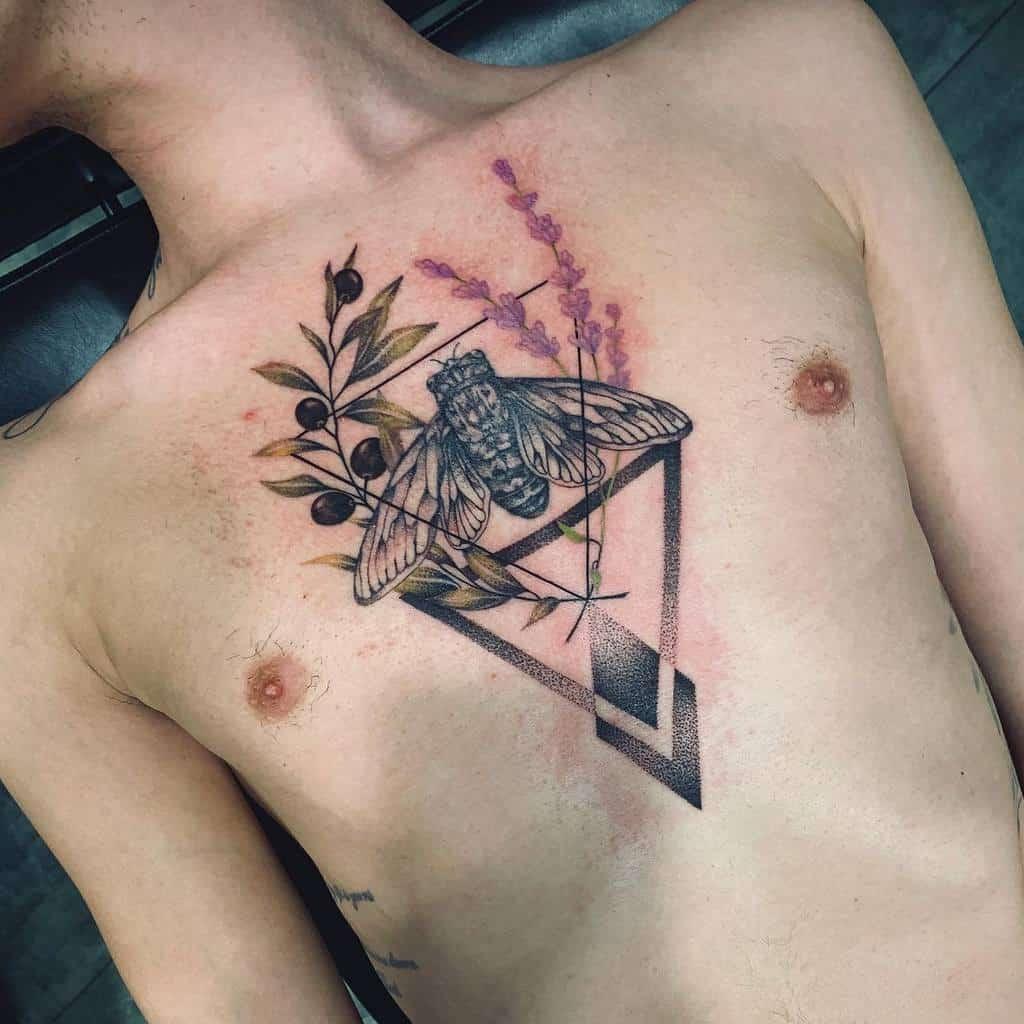 chest Cicada Tattoos inkatattoolyon