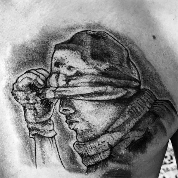 Chest Call Of Duty Male Tattoos