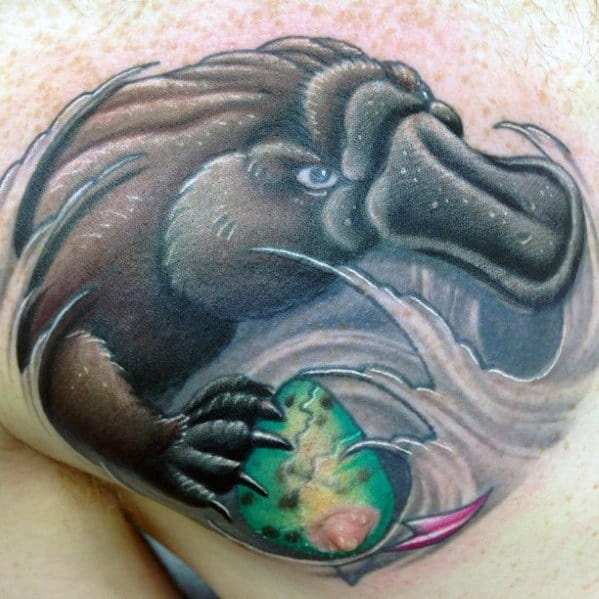 Chest Cool Platypus Tattoo Design Ideas For Male