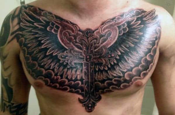 chest-cross-tattoos-for-men