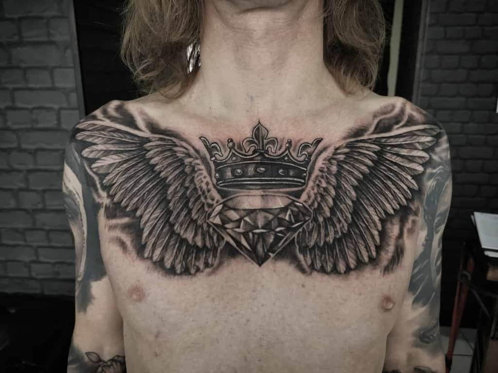 chest-crown-diamond-angel-wing-tattoo-christina_lopez88